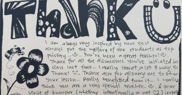 Thank you card to Mr Lau