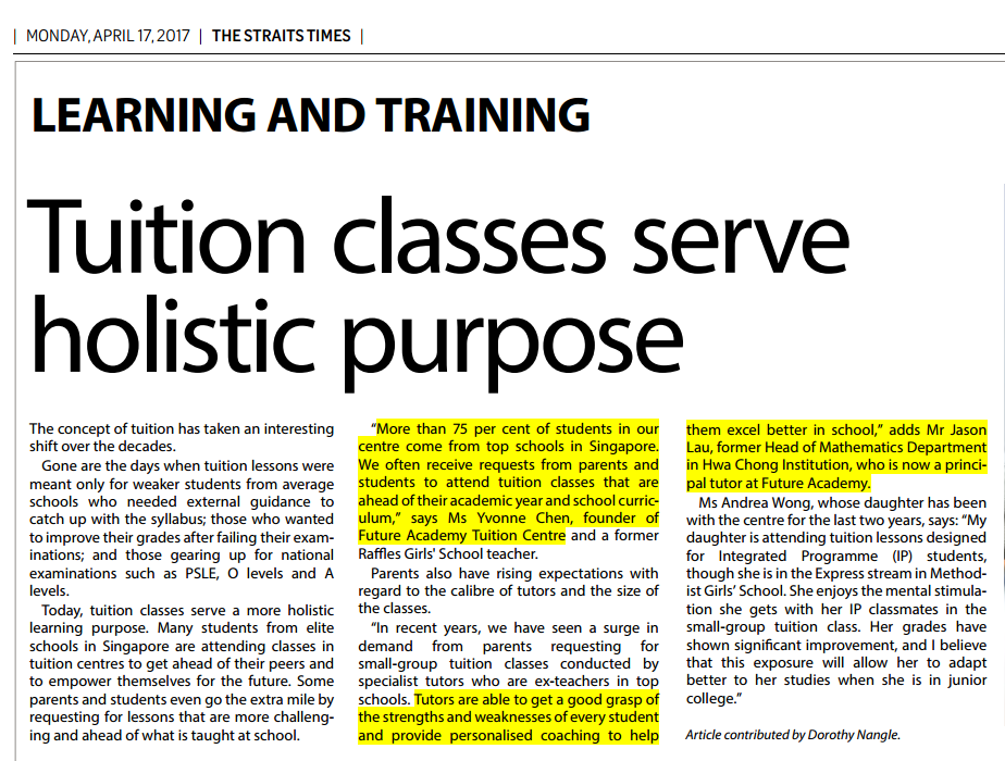 Tuition classes serve holistic purpose