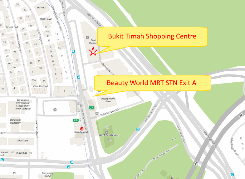 bukit timah branch map
